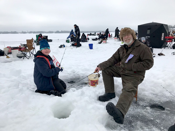 Anglers at the Lac du Bonnet Ice Fishing Derby