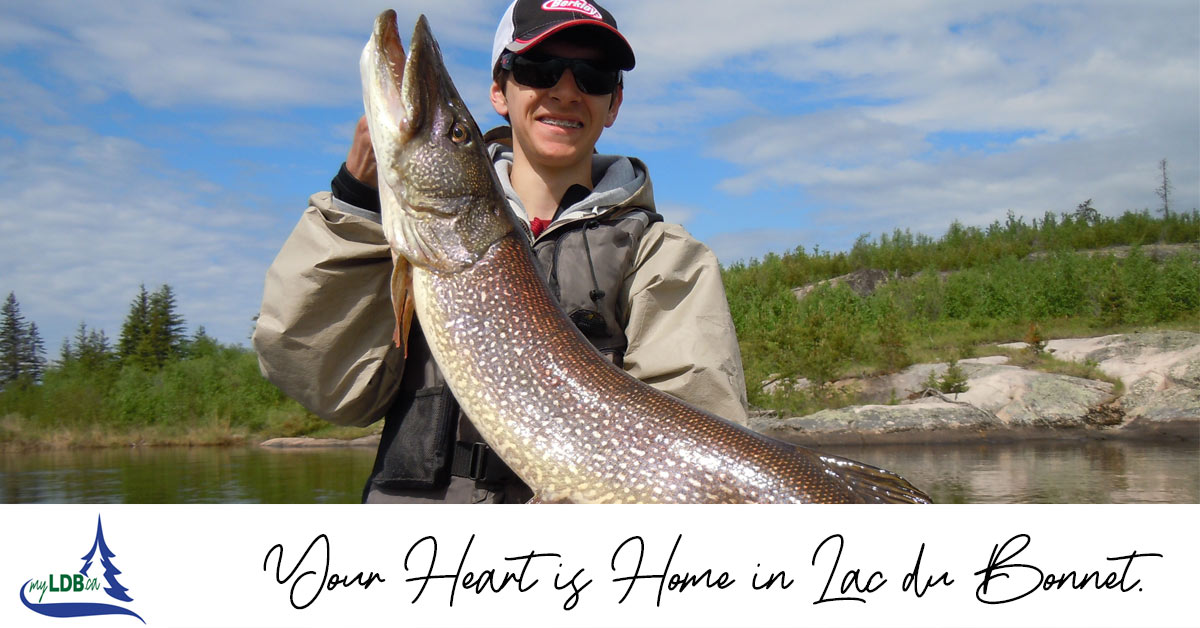 Fishing at Jackson's Lodge in Lac du Bonnet, Manitoba
